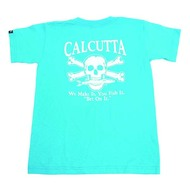 Calcutta Kids Carb Blue T-Shirt W/ Original Logo