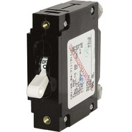 Blue Sea C-Series White Toggle Circuit Breaker - Single Pole