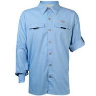 Mojo Mr. Big Long Sleeve Performance Vented Shirt - Sky Blue