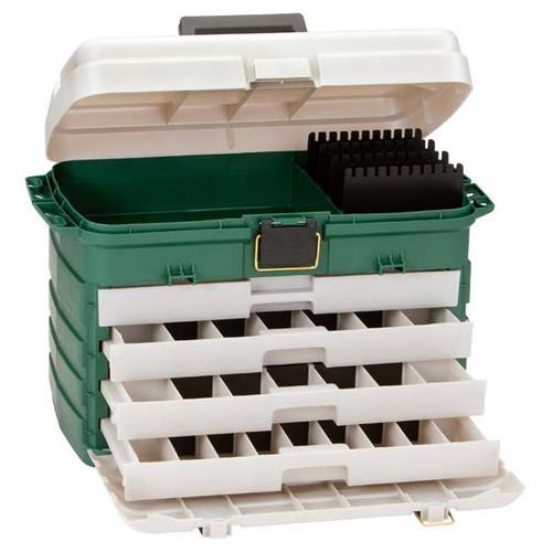 Plano Green/Silver 4-Drawer Tackle Box