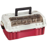 Plano Red/ Silver Flipsider 3 Tray Tackle Box