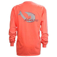 Mojo Corporate Pigment Dyed Long Sleeve Tee - Tangerine