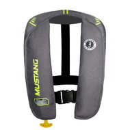 Mustang Survival MIT 100 Manual Activation Inflatable Life Vest - Grey/Yellow Green