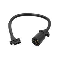 Wesbar 7-Way Blade to 5-Flat Plug Adapter