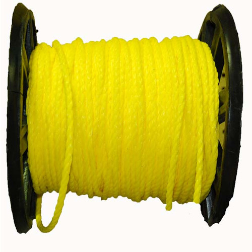 Aamstrand Twisted Yellow Polypropylene Rope - Per Foot
