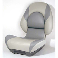 Attwood Centric II Fully Upholstered Seat w/ Lock-Down Button - Tan Base Color