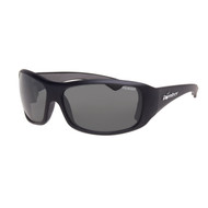 Bomber Butter Bombs Matte Black w/polarized Smoke Lens