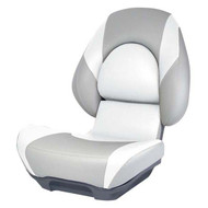 Attwood SAS Centric II Fully Upholstered Seat w/ Lock-Down Button - Grey Base Color