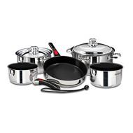 Magma 10 pc. Stainless Cookware w/ Black Ceramica Non-Stick