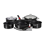 Magma 10 pc. Stainless Induction Cookware w/ Ceramica - Black