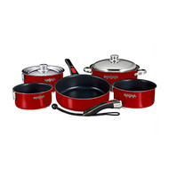 Magma 10 pc. Stainless Induction Cookware w/ Ceramica - Red