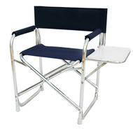 Navy Folding Deck Chair w/ Table