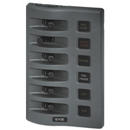 Blue Sea WeatherDeck Waterproof Fuse Panel - 6 Switch