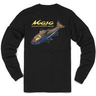 Mojo Neon Redfish Long Sleeve Shirt Back