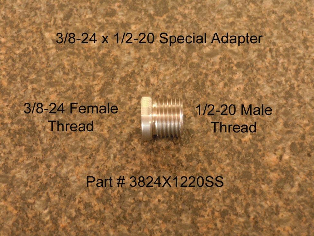 Female threads per inch barrel adapter