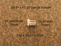"This adapter has 1/2""-20 threads per inch male threads to adapt 1/2-20 special suppressors. This adapter will NOT fit most brand name Rim Fire suppressors that normally have a 1/2""-28 threads per inch connection. BE SURE OF YOUR Suppressor connection before buying!"