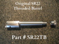 This barrel is longer than the OEM style barrel and allows you to install or remove the suppressor adapter without locking the slide back.