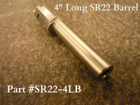 This is a 4.135 inch (105mm) long replacement barrel that is designed to meet the 4 inch minimum length requirements that some states require for hunting proposes. It also meets the (105mm) Canadian minimum barrel length requirement. This is an excellent option for those of you that are looking for a quality replacement barrel that will increase muzzle velocity and accuracy of your SR22 and meet the 4 inch minimum hunting length requirement.