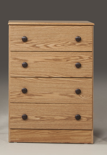 Oak  4 Drawer Chest