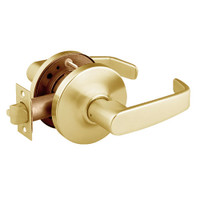 28-10U65-GL-03 Sargent 10 Line Cylindrical Privacy Locks with L Lever Design and G Rose in Bright Brass