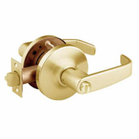 28-10U68-GL-03 Sargent 10 Line Cylindrical Hospital Privacy Locks with L Lever Design and G Rose in Bright Brass