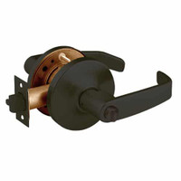 28-10U68-GL-10B Sargent 10 Line Cylindrical Hospital Privacy Locks with L Lever Design and G Rose in Oxidized Dull Bronze
