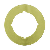 PBSP-135-605 Don Jo Scar Plate in Bright Brass Finish