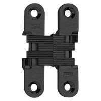 204C-US19 Soss Invisible Hinge in Black E-Coated Finish