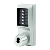 1021B-026-41 Simplex Pushbutton Lock with Knob, Combination Entry and Best Core Override in Bright Chrome