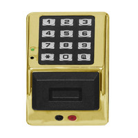 PDK3000-US3 Alarm Lock Trilogy Electronic Narrow Style Digital Lock in Polished Chrome Finish