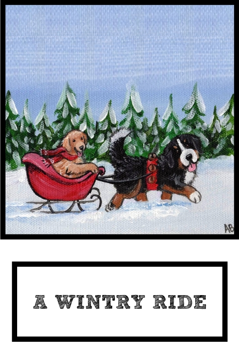 a-wintry-ride-bernese-mountain-dog-and-golden-retriever-thumb.jpg