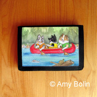 TRIFOLD WALLET · SHELTIES ON THE RIVER · BI BLACK, BLUE MERLE, SABLE SHELTIES · AMY BOLIN