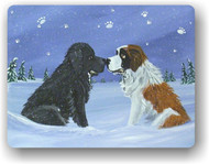 MAGNET · A COLD, WET HELLO · BLACK NEWFOUNDLAND, SAINT BERNARD · AMY BOLIN
