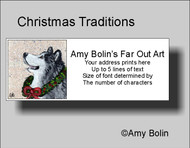 """Christmas Traditions"" Alaskan Malamute Address Labels"