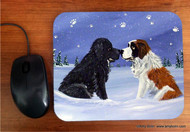 MOUSE PAD · A COLD, WET HELLO · BLACK NEWFOUNDLAND, SAINT BERNARD · AMY BOLIN