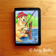 TRIFOLD WALLET · GONE FISHING · GOLDEN RETRIEVER · AMY BOLIN