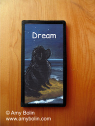 CHECKBOOK COVER · DREAM · BLACK NEWFOUNDLAND · AMY BOLIN