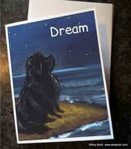 NOTE CARDS · DREAM · BLACK NEWFOUNDLAND · AMY BOLIN