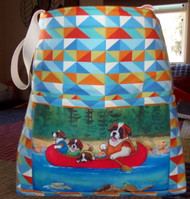 "Handmade quilted Beach Bag     ""'Saints  on the River""      By Dawn Johnson"