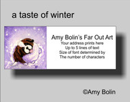 ADDRESS LABELS · A TASTE OF WINTER · SAINT BERNARD · AMY BOLIN