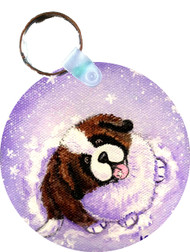 KEY CHAIN · A TASTE OF WINTER · SAINT BERNARD · AMY BOLIN