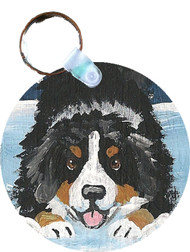 KEY CHAIN · LET'S PLAY · BERNESE MOUNTAIN DOG  · AMY BOLIN