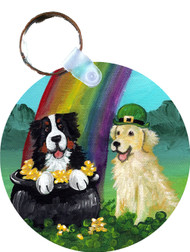KEY CHAIN · MY POT O GOLD · BERNESE MOUNTAIN DOG & GOLDEN RETRIEVER · AMY BOLIN