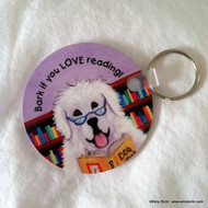 KEY CHAIN · DOG TAILS VOL 2 · GREAT PYRENEES  · AMY BOLIN