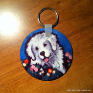 KEY CHAIN · MOM'S FAVORITE FLOWER · GREAT PYRENEES  · AMY BOLIN