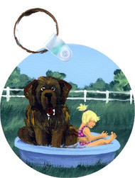 KEY CHAIN · BATHING BEAUTIES · BROWN NEWFOUNDLANDS  · AMY BOLIN
