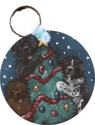 KEY CHAIN · CHRISTMAS  TOGETHER · BLACK, BROWN, LANDSEER NEWFOUNDLANDS  · AMY BOLIN