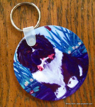 KEY CHAIN · IN MOM'S POND · LANDSEER NEWFOUNDLANDS  · AMY BOLIN