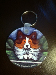 KEY CHAIN · AGILITY QUEEN · SABLE SHELTIE  · AMY BOLIN
