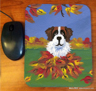MOUSE PAD · AUTUMN'S SIMPLE PLEASURES 3 · SAINT BERNARD · AMY BOLIN